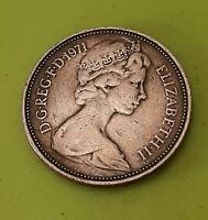 1971 2 P NEW PENCE COIN  LY   ORIGINAL OLD COIN VINTAGE COLLECTORS