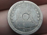 1842 O SEATED LIBERTY SILVER DIME- AG/GOOD DETAILS, FULL DATE