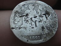 1841-O SEATED LIBERTY DIME- COUNTERSTAMPED,