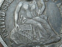 1875 SEATED LIBERTY DIME- FINE/VF DETAILS