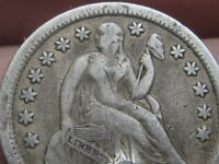 1857-O SEATED LIBERTY DIME- VF DETAILS