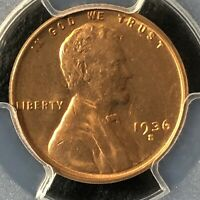 1936-S 1C RD LINCOLN WHEAT ONE CENT  PCGS MINT STATE 64RD                 35719861