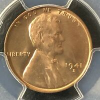 1941-S 1C RD LINCOLN WHEAT ONE CENT  PCGS MINT STATE 65RD            35721126