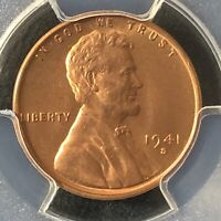 1941-S 1C RD LINCOLN WHEAT ONE CENT  PCGS MINT STATE 66RD           35721116