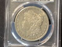 1889-S MORGAN SILVER DOLLAR AU DETAILS CLEANED