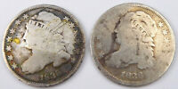 1835 1836 CAPPED BUST DIME LOT