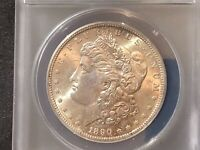 1890-S MORGAN SILVER DOLLAR MINT STATE 62