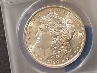 1890-S MORGAN SILVER DOLLAR AU 50