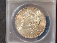 1898-S/S MORGAN SILVER DOLLAR  S OVER S MINTMARK AU 58 DETAILS