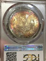 1881-P PCGS MINT STATE 66 MORGAN SILVER DOLLAR KEY DATE & COLORFUL TONING