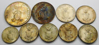 TONED WORLD WAR II PHILIPPINES COINS   9 COINS