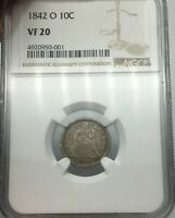 1842-O NGC VF20 SEATED LIBERTY DIME BETTER DATE GOOD CONDITION COIN