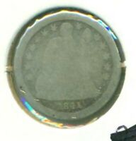 1841 LIBERTY CAPPED DRAPED BUST DIME AG
