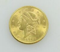 1906 S GOLD $20 LIBERTY DOUBLE EAGLE COIN