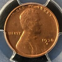 1936-S 1C RD LINCOLN WHEAT ONE CENT  PCGS MINT STATE 65RD                   35721230