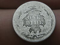 1867 S SEATED LIBERTY DIME-  KEY DATE