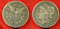 1890-S U.S. MORGAN SILVER DOLLAR  - SOLID  VG DIRTY BLACK LINES   STKJ343