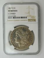 1889 S MORGAN SILVER DOLLAR NGC CERTIFIED EXTRA FINE  DETAILS CLEANED 571