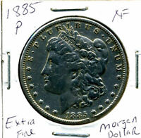 1885 P EXTRA FINE  MORGAN DOLLAR 100 CENT  EXTRA FINE 90  OLD SILVER US$1 COIN 1386