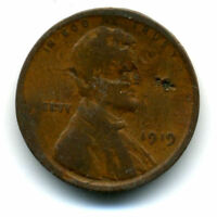 LINCOLN HEAD WHEAT CENT 1919 P COPPER CIRCULATED UNITED STATES 1 PENNY COIN1632