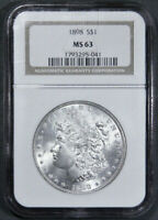 1898-P MORGAN SILVER DOLLAR NGC MINT STATE 63