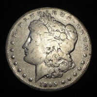 1895-S MORGAN SILVER DOLLAR - SOLID VG DETAILS KEY FROM THE SAN FRANCISCO MINT