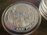 NA LEGENDS BUCKS AND BULLS - KING OF BRITTON - 1OZ FINE SILVER ROUND .999