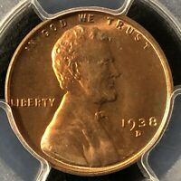 1938-D 1C RD LINCOLN WHEAT ONE CENT  PCGS MINT STATE 65RD    36402825