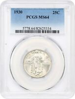1930 25C PCGS MINT STATE 64 - STANDING LIBERTY QUARTER
