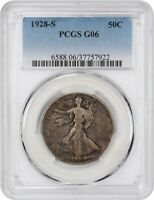 1928-S 50C PCGS GOOD-06 -  EARLY WALKER - WALKING LIBERTY HALF DOLLAR