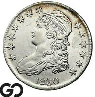 1830 CAPPED BUST HALF DOLLAR SOUGHT AFTER AU SILVER HALF