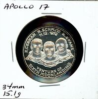 SPACE MEDAL   APOLLO 17 .999 SILVER PROOF HOFFMAN & HOFFMAN MINT