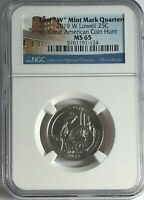 2019 W NGC MS65 LOWELL FIRST W QUARTER GREAT AMERICAN COIN H