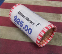 2010 P MILLARD FILLMORE PRESIDENTIAL ONE DOLLAR 25-COIN ROLL - MINT WRAPPED-BINO