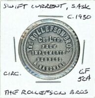 SWIFT CURRENT SASK   THE ROLLEFSON BROS.   GOOD FOR 50C TOKEN