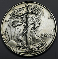 1943-P WALKING LIBERTY HALF DOLLAR AU 80407  INV. G