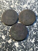 LOT OF 3 VERY LOW GRADE CONNECTICUT COLONIAL COPPERS LOTA114