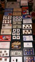COIN LOT BIG COLLECTION MINT SETS PROOF $2 VINTAGE TRAIN 196