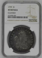 1799 NGC EXTRA FINE  DETAILS DRAPED BUST SILVER DOLLAR  DATE