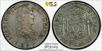 1821 ZS RG MEXICO 8 REALES PCGS XF45 LOTDW07 SILVER