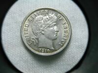 US COINS 1910 HIGH GRADE ORIGINAL BARBER DIME  SELLING ENTIR