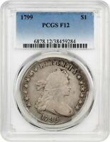 1799 $1 PCGS F12 - GREAT BUST DOLLAR TYPE COIN - BUST SILVER DOLLAR