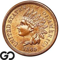 1865 INDIAN HEAD CENT PENNY LUSTROUS RED VERY NICE SOLID GEM