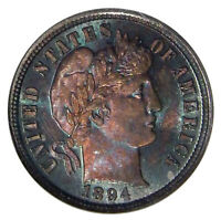 1894 10C NGC PF 67  HIGH GRADE BARBER DIME IN OLD FAT HOLDER
