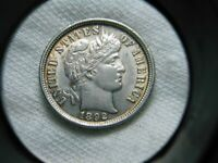 US COINS 1892 HIGH GRADE ORIGINAL BARBER DIME  SELLING ENTIR