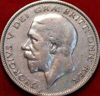 1936 GREAT BRITAIN 1/2 CROWN SILVER FOREIGN COIN