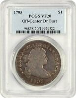 1795 DRAPED BUST $1 PCGS VF20 OFF-CENTER BUST WHOLESOME TYPE COIN