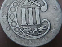 1856 THREE 3 CENT SILVER TRIME