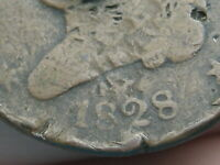 1828 CAPPED BUST HALF CENT- 13 STARS