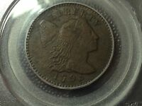 1795 LETTERED EDGE  LIBERTY CAP LARGE CENT  PCGS VF DETAIL